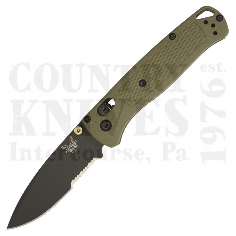 Buy Benchmade  BM535SGRY-1 Bugout - Ranger Green / ComboEdge at Country Knives.