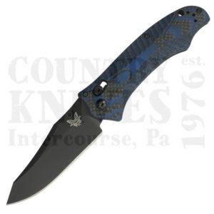 Buy Benchmade  BM950BK-1801 Rift, Black Carbon Fiber / Blue G-10 at Country Knives.