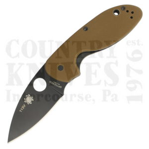 Buy Spyderco  C216GPBNBK Efficient, PlainEdge / Brown G-10 / TiN at Country Knives.