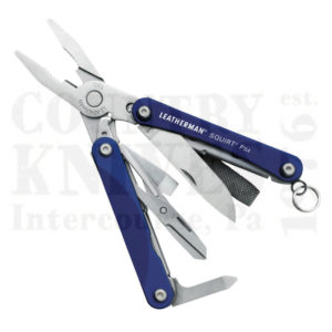 Buy Leatherman  LT831192 Squirt PS4 - Blue Anodized Aluminum at Country Knives.