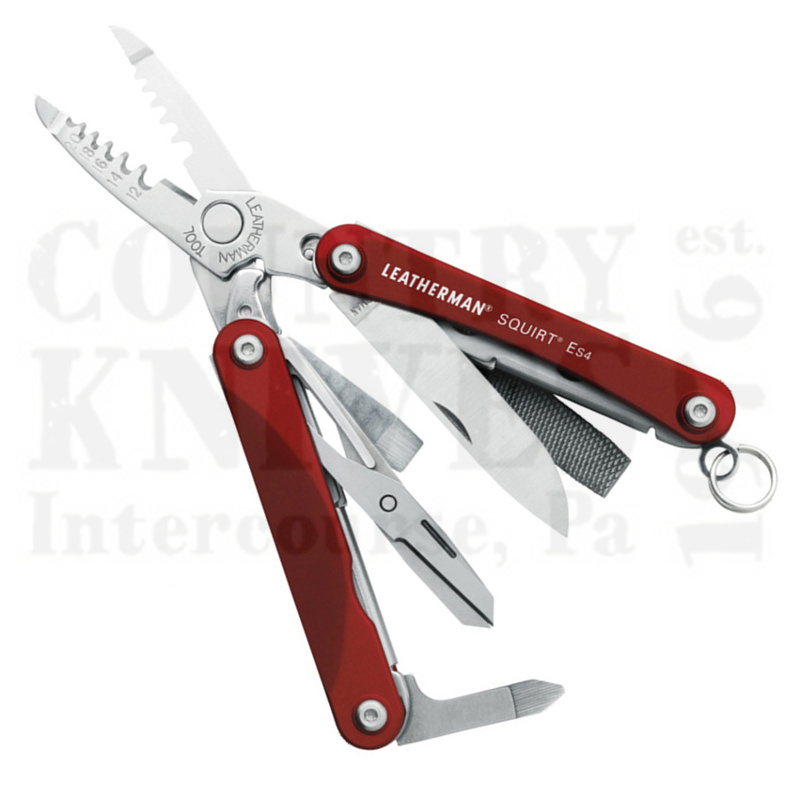 Buy Leatherman  LT831198 Squirt ES4 - Red Anodized Aluminum at Country Knives.