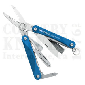 Buy Leatherman  LT831201 Squirt ES4 - Blue Anodized Aluminum at Country Knives.