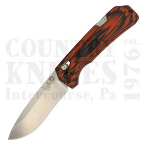 Buy Benchmade  BM15060-1801 Grizzly Creek Folder, Black & Orange G-10 at Country Knives.