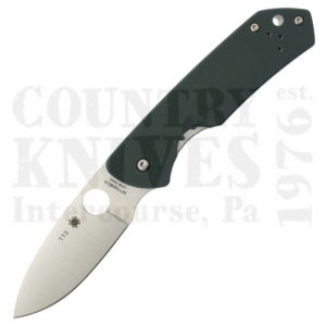 Buy Spyderco  C232GTIP Brouwer, Forest Green G-10 / Titanium at Country Knives.