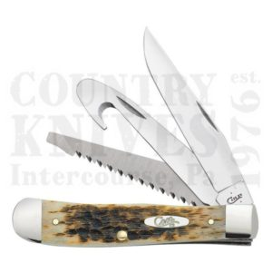 Buy Case  CA0149 Hunter Trapper - Amber Bone at Country Knives.