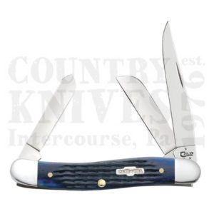 Buy Case  CA2801 Medium Stockman, Navy Blue Bone at Country Knives.