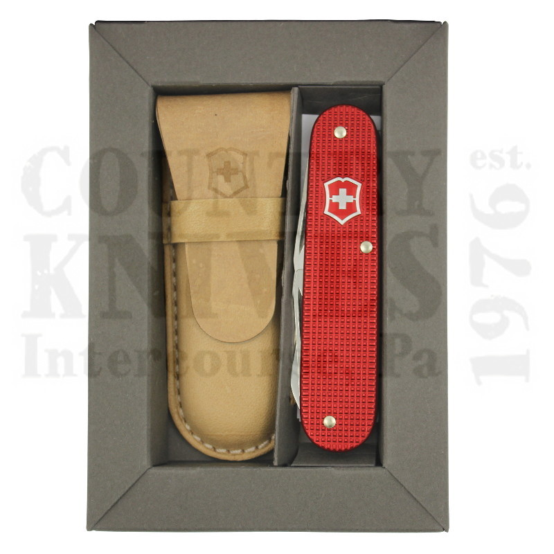Buy Victorinox Swiss Army 0.2600.L1221 Cadet - Ribbed Red Alox with Pocket Pouch at Country Knives.
