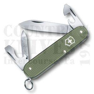 Buy Victorinox Swiss Army 0.2601.L17 Cadet, Olive Green Alox at Country Knives.