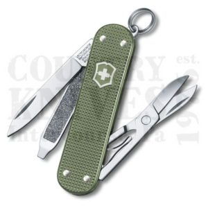 Buy Victorinox Swiss Army 0.6221.L17 Classic SD, Olive Green Alox at Country Knives.