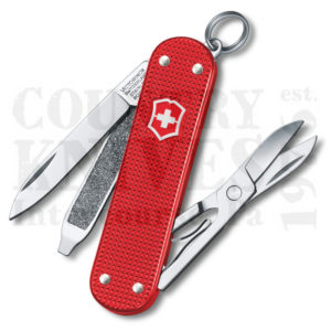Buy Victorinox Swiss Army 0.6221.L18 Classic SD - Berry Red Alox at Country Knives.