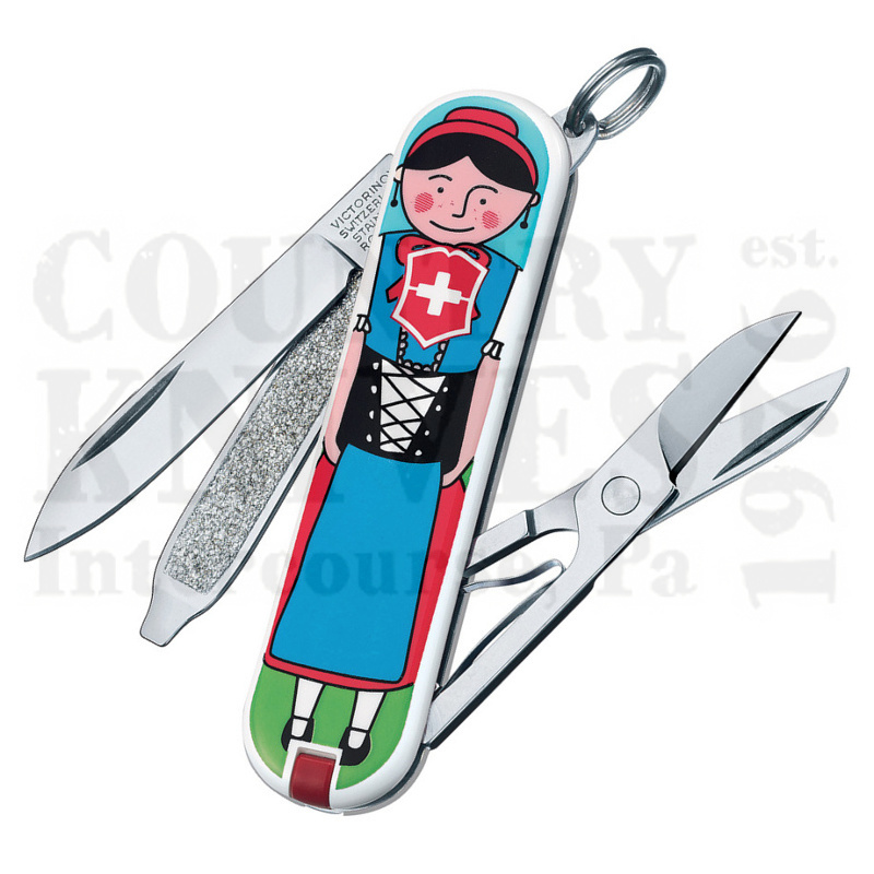 Buy Victorinox Swiss Army 0.6223.L1401US2 Classic SD 2015 - Appenzeller at Country Knives.