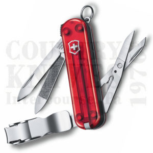 Buy Victorinox Swiss Army 0.6463.TUS2 Nail Clip 580, Translucent Ruby  at Country Knives.