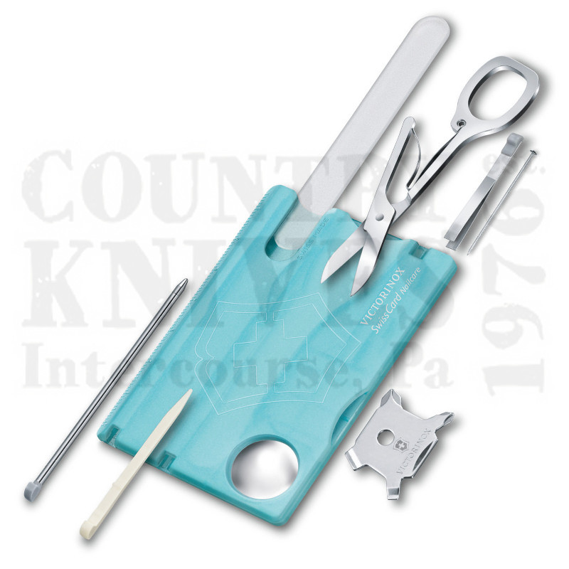 Buy Victorinox Swiss Army 0.7240.T21 SwissCard – Nailcare - Ice Blue at Country Knives.