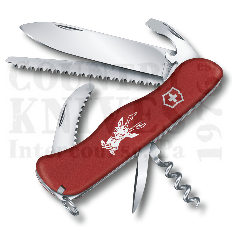 Buy Victorinox Swiss Army 0.8573.US2 Hunter Fibrox - Red Fibrox at Country Knives.