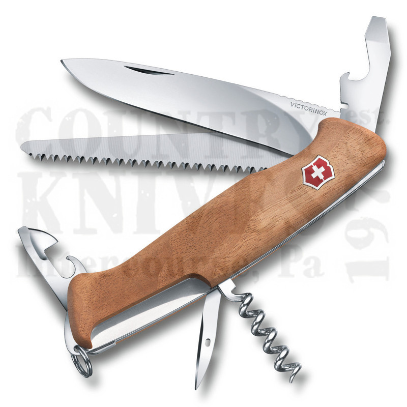 Buy Victorinox Swiss Army 0.9561.63US2 RangerWood 55 - Swiss Walnut at Country Knives.