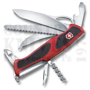 Buy Victorinox Swiss Army 0.9583.MCUS2 RangerGrip 57 Hunter - Red & Black at Country Knives.