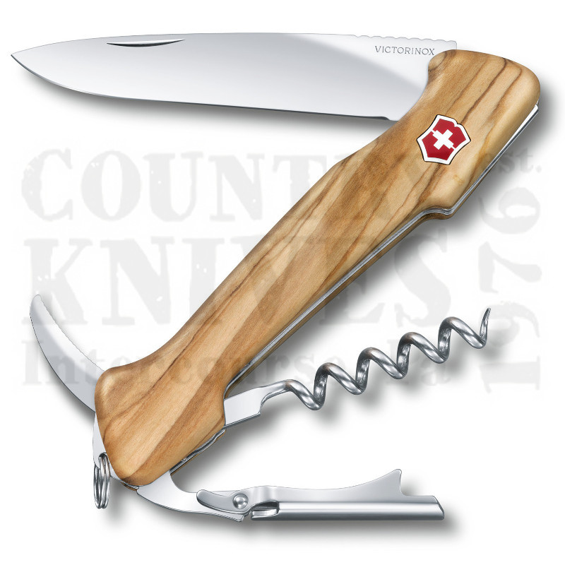 Buy Victorinox Swiss Army 0.9701.64 Wine Master - Olivewood at Country Knives.