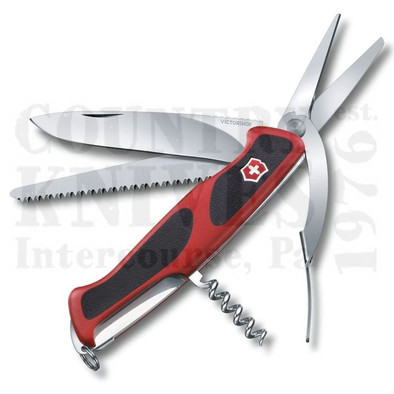 Buy Victorinox Swiss Army 0.9713.CUS2 RangerGrip 71 Gardner - Red & Black at Country Knives.