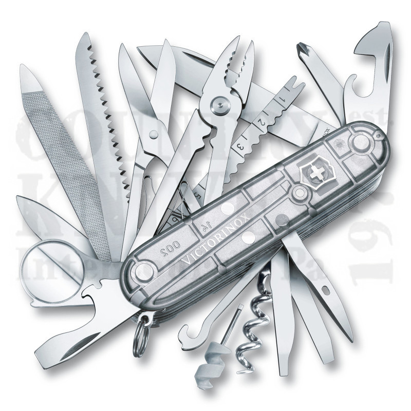 Buy Victorinox Swiss Army 1.6794.T7US2 SwissChamp - SilverTech at Country Knives.