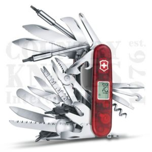Buy Victorinox Swiss Army 1.6795.XAVT SwissChamp XAVT, Translucent Ruby at Country Knives.
