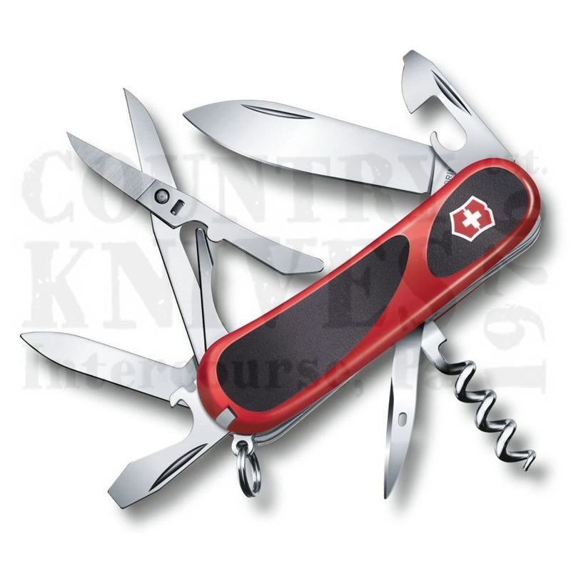 Buy Victorinox Swiss Army 2.3903.CUS2 EvoGrip 14 - Red & Black at Country Knives.