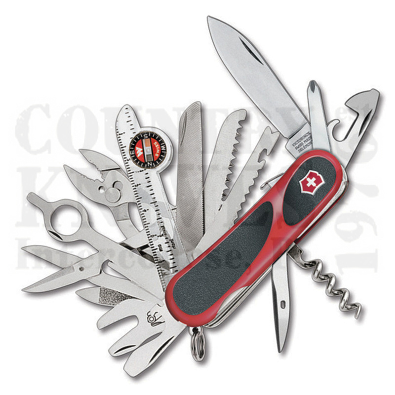 Buy Victorinox Swiss Army 2.5393.SCUS2 EvoGrip S54 - Red & Black at Country Knives.