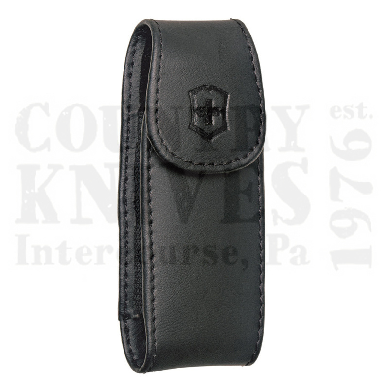 Buy Victorinox Swiss Army 33256 Large Pocketknife Clip Pouch - Black Leather at Country Knives.