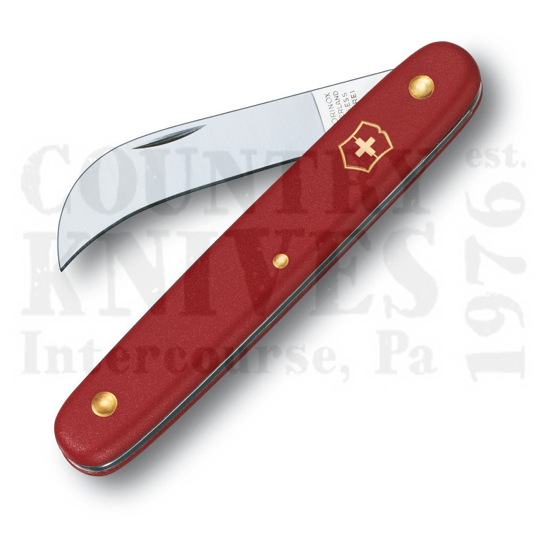Buy Victorinox Swiss Army 39-060 Pruning Knife - Narrow Hawkbill – Red Fibrox Handle at Country Knives.