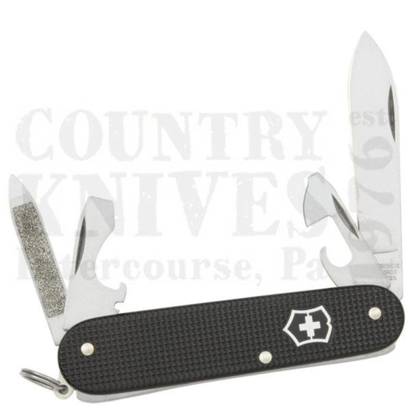Buy Victorinox Swiss Army 53044 Cadet - Ribbed Black Alox at Country Knives.