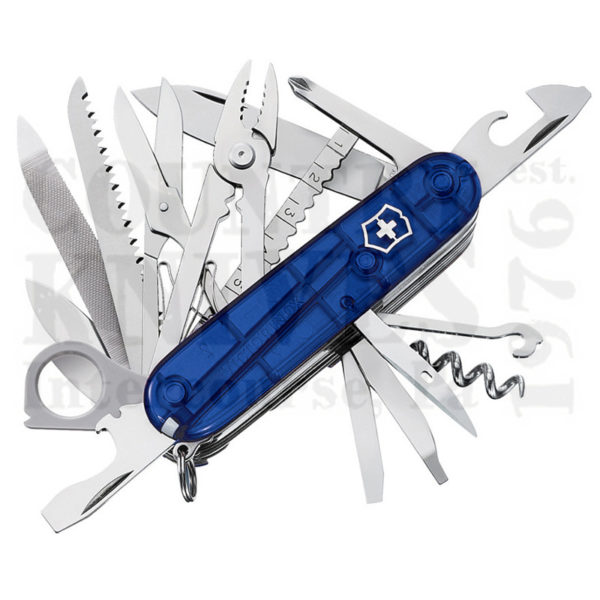 Buy Victorinox Swiss Army 53507 SwissChamp - Translucent Sapphire at Country Knives.