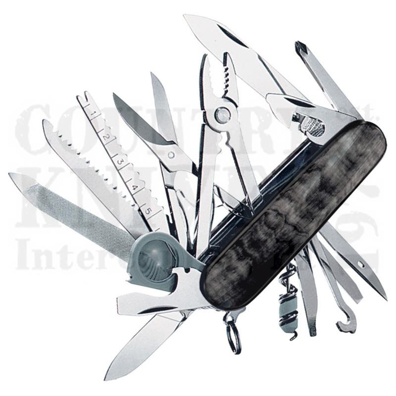 Buy Victorinox Swiss Army 53523 SwissChamp - Buffalo Horn at Country Knives.