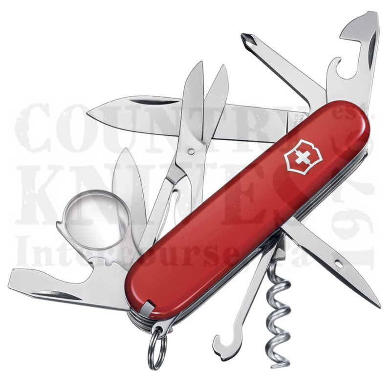Buy Victorinox Swiss Army 53791 Explorer - Red at Country Knives.