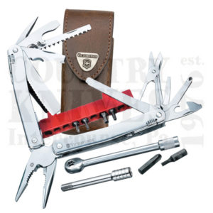 Buy Victorinox Swiss Army 53806 SwissTool Spirit Plus with Ratchet - Leather Pouch at Country Knives.