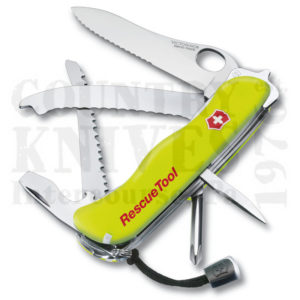 Buy Victorinox Swiss Army 53900 Rescue Tool - Fluorescent Yellow at Country Knives.