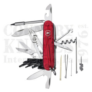 Buy Victorinox Swiss Army 53919 CyberTool 34 - Translucent Ruby at Country Knives.