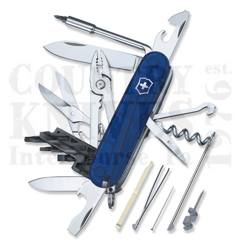 Buy Victorinox Swiss Army 53942 CyberTool 34 - Translucent Sapphire at Country Knives.