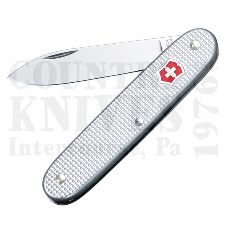 Buy Victorinox Swiss Army 53950 Swiss Army 1 (formerly Solo) - Silver Ribbed Alox at Country Knives.