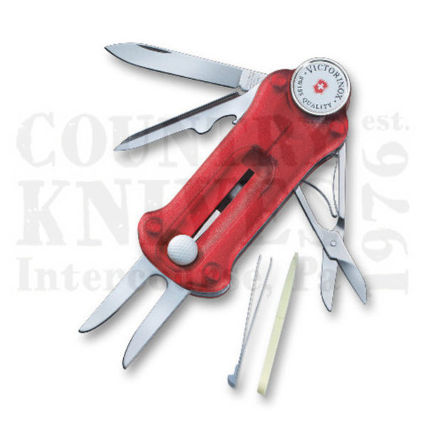 Buy Victorinox Swiss Army 53962 GolfTool - Translucent Ruby at Country Knives.