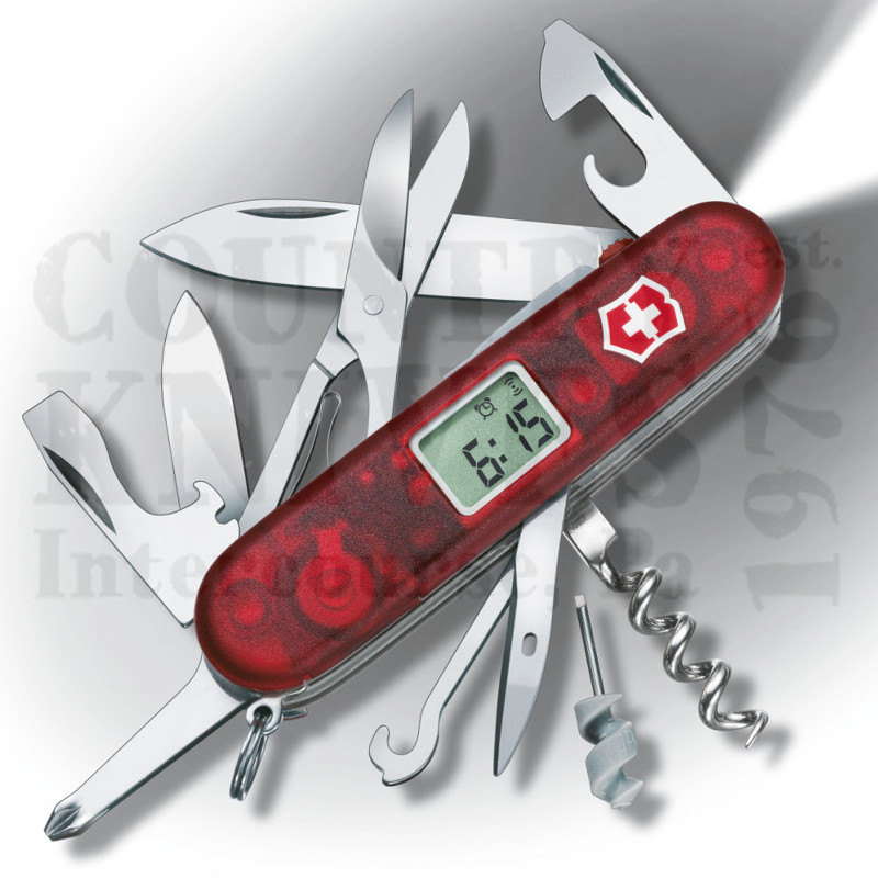 Buy Victorinox Swiss Army 53968 Voyager Lite - Translucent Ruby at Country Knives.