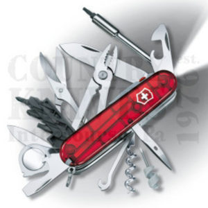 Buy Victorinox Swiss Army 53969 CyberTool Lite, Translucent Ruby at Country Knives.