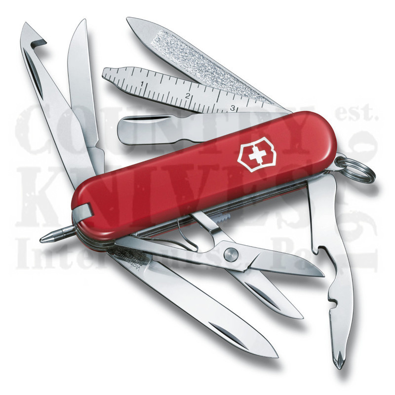 Buy Victorinox Swiss Army 53973 MiniChamp - Red at Country Knives.