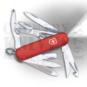 Buy Victorinox Swiss Army 53976 Midnite MiniChamp, Red at Country Knives.