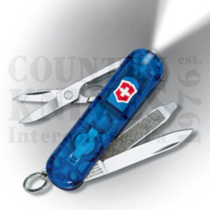 Buy Victorinox Swiss Army 54036 SwissLite - Translucent Sapphire at Country Knives.