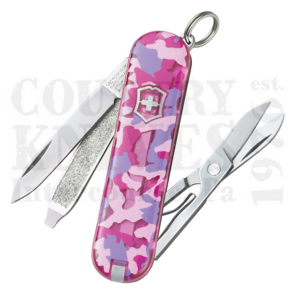 Buy Victorinox Swiss Army 54184 Classic SD - Pink Camouflage at Country Knives.