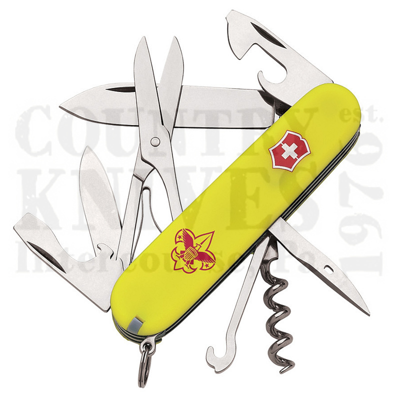 Buy Victorinox Swiss Army 54389 Boy Scout Climber  - Stayglow at Country Knives.