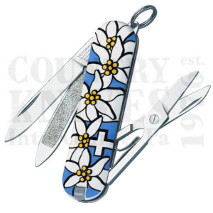 Buy Victorinox Swiss Army 54721 Classic, Blue Edelweiss at Country Knives.