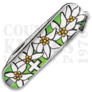 Buy Victorinox Swiss Army 54723 Classic, Lime Green Edelweiss at Country Knives.