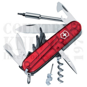 Buy Victorinox Swiss Army 54919 CyberTool 29 - Translucent Ruby at Country Knives.