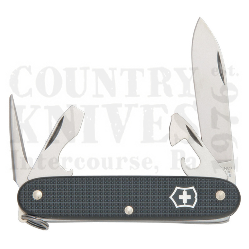 Buy Victorinox Swiss Army 54968 Pioneer - Black Ribbed Alox at Country Knives.