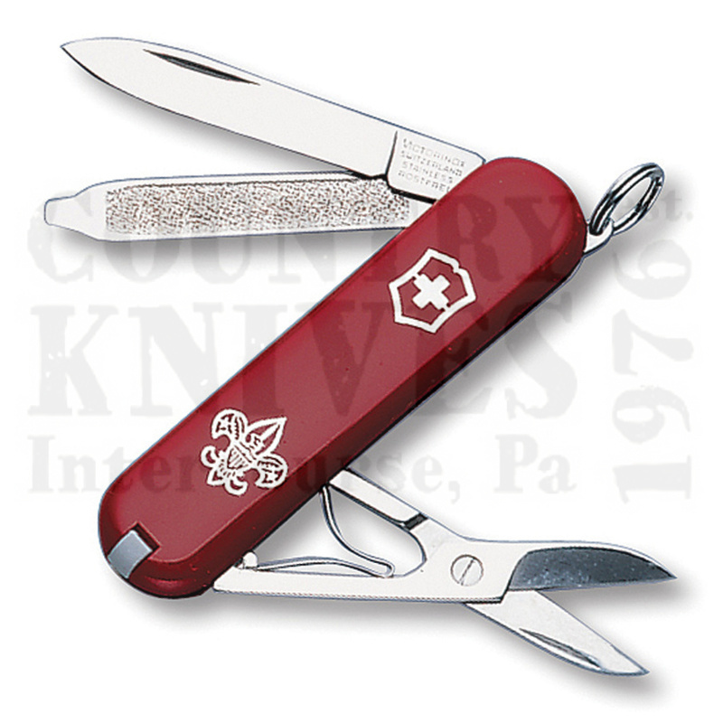 Buy Victorinox Swiss Army 55431 Boy Scout Classic SD - Red at Country Knives.